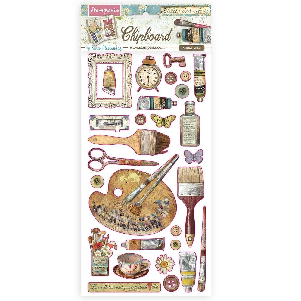 Stamperia Alice Gold Chipboards Decorations (DFLCB25)