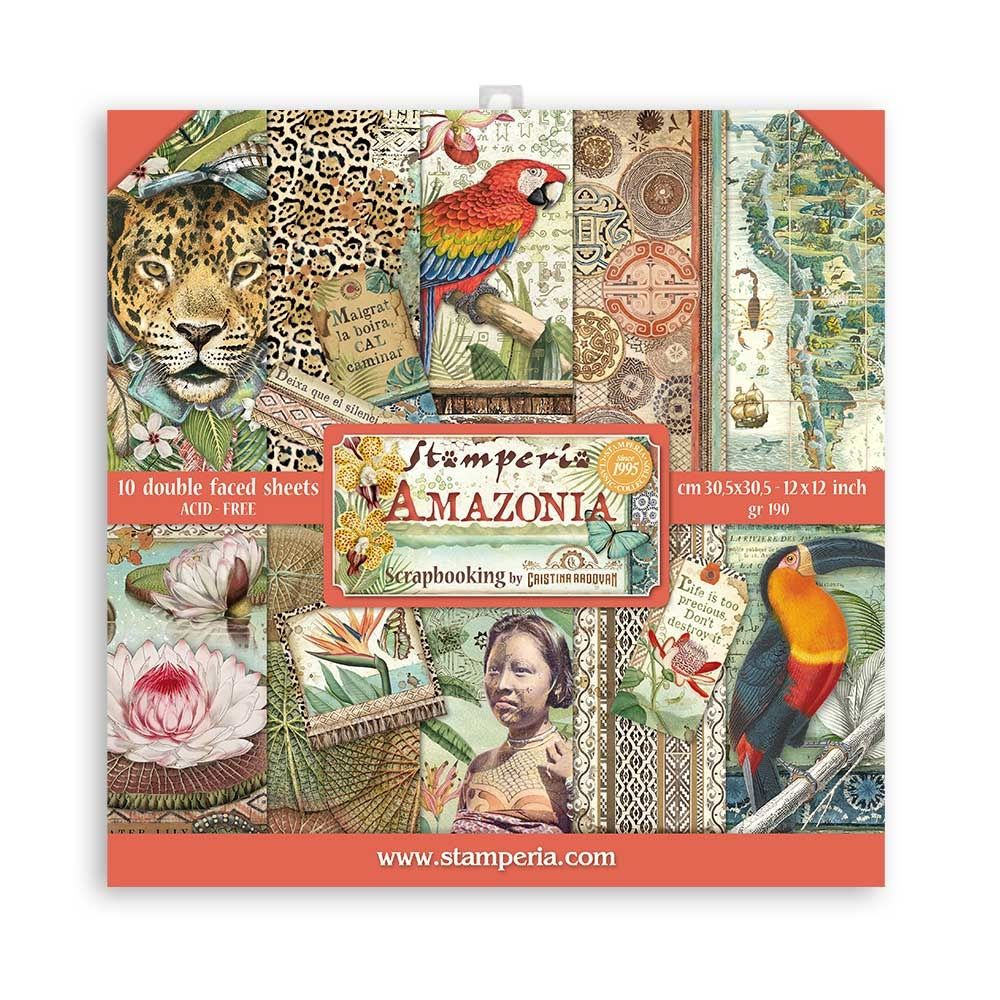 Stamperia Amazonia 12x12 Inch Paper Pack (SBBL83)