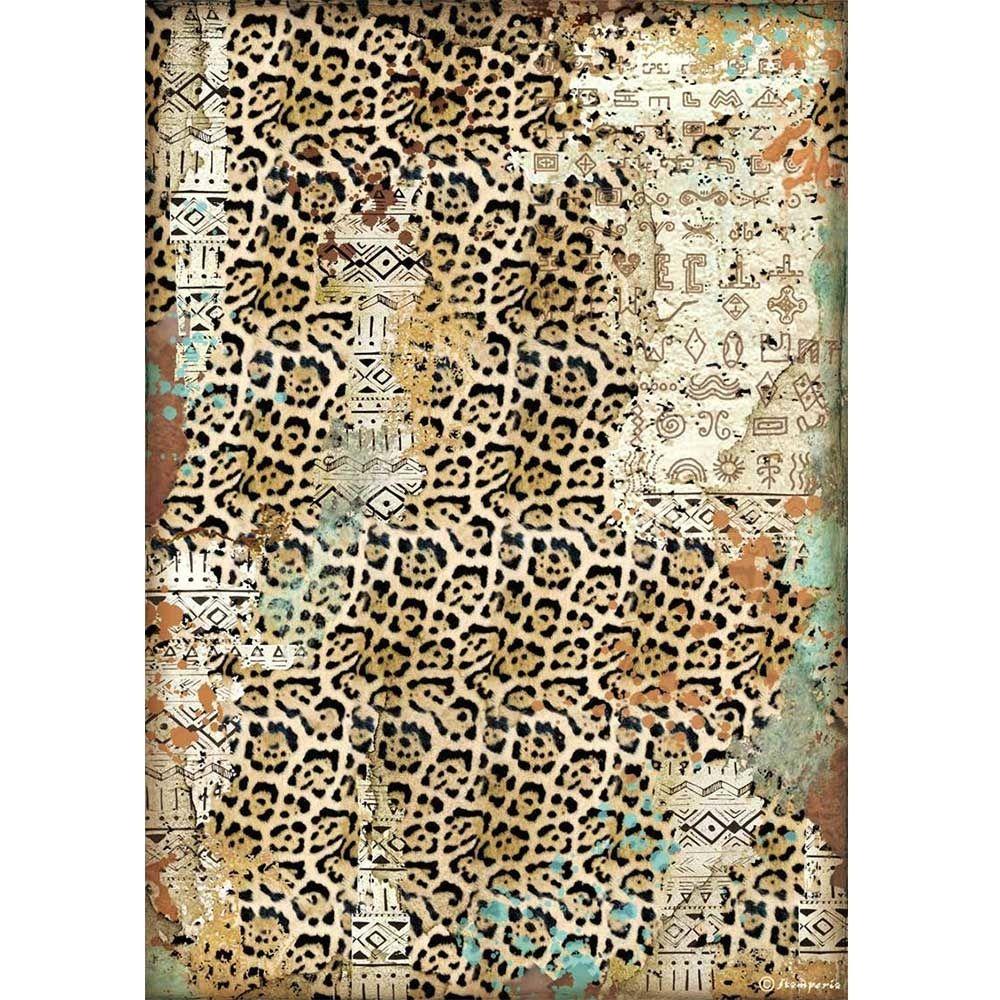 Stamperia Amazonia A4  Rice Paper Texture (DFSA4534)
