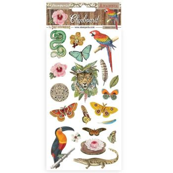 Stamperia Amazonia Chipboard 15x30cm (DFLCB20)