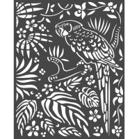 Stamperia Amazonia Thick Stencil 20x25cm Parrot (KSTD067)