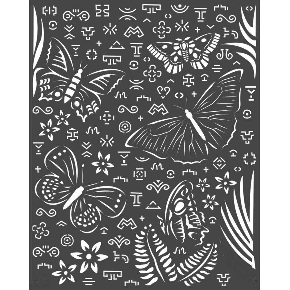 Stamperia Amazonia Thick Stencil 20x25cm Butterflies (KSTD064)