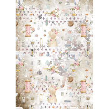Stamperia Romantic Threads A4  Rice Paper Embellishment (DFSA4566)