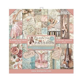 Stamperia Passion 12x12 Inch Paper Pack (SBBL84)
