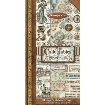 Stamperia Voyages Fantastiques 6x12 Inch Paper Pack (SBBV03)