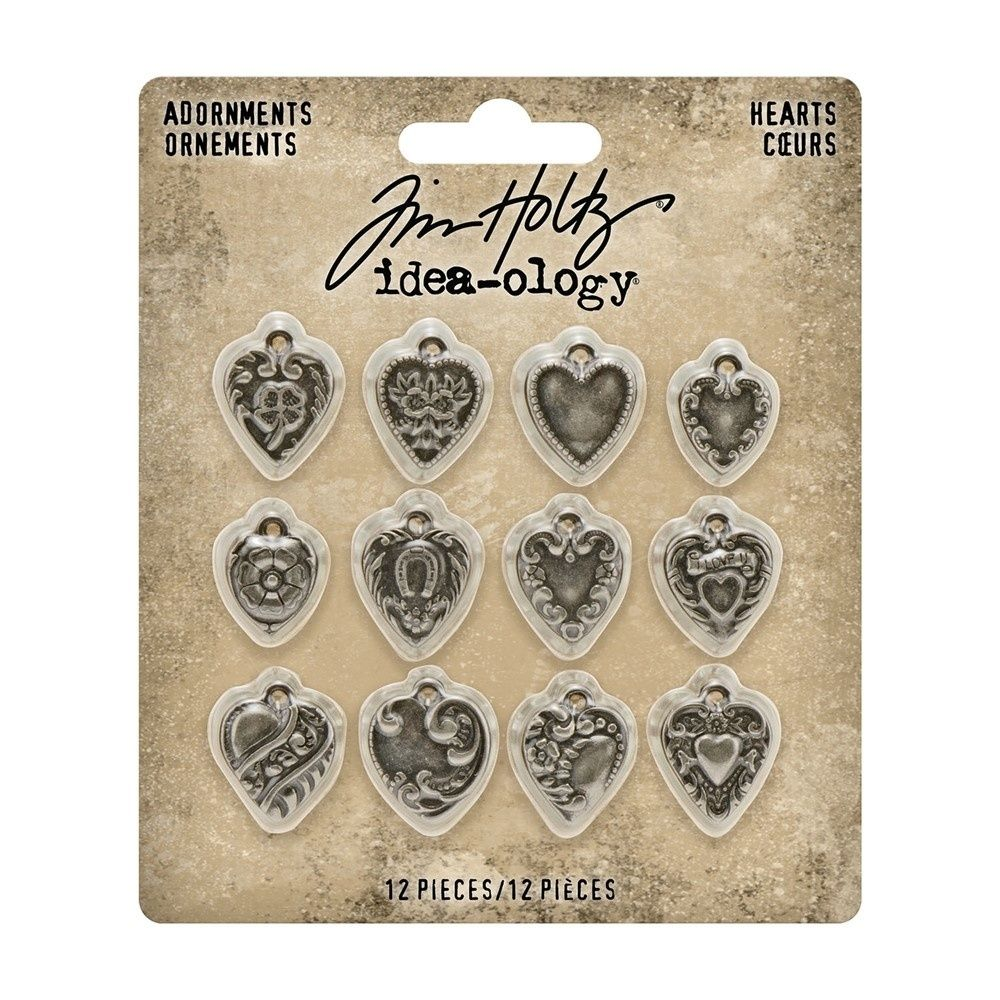 Idea-ology Tim Holtz Adornments Hearts (TH94130)