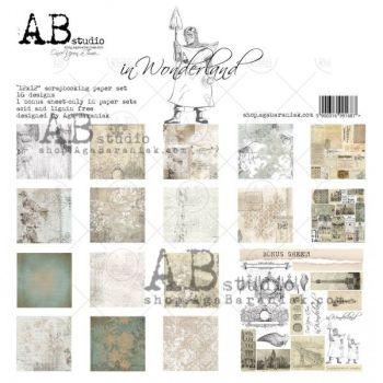 """In Wonderland"" - Scrapbooking Paper 12 x12"" + 1 Bonus Sheet Set"