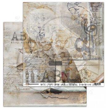 """Rustical journey"" Scrapbooking Paper 12 x 12"" sheet 7 Rustic Design"