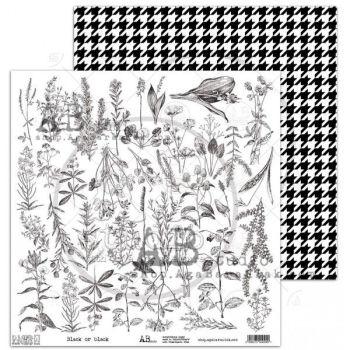 "Elements - Scrapbooking Paper 12 x 12"" - Black or black"