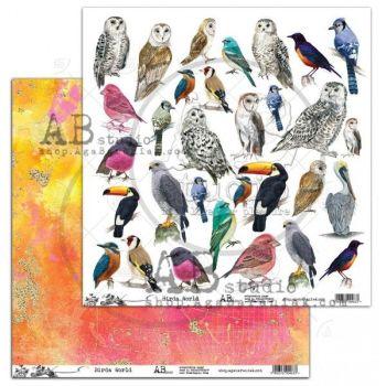 "Elements - Scrapbooking Paper 12 x 12"" - Birds World"