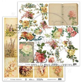 """Elements - Scrapbooking Paper 12 x 12"""" - Vintage Elements 7/8"""