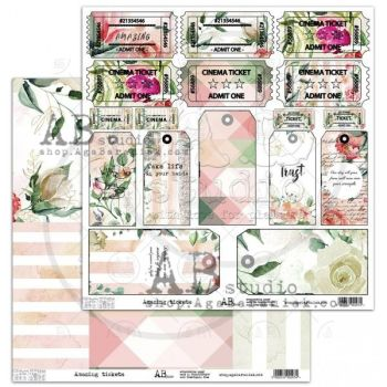 "Elements - Scrapbooking Paper 12 x 12"" - Amazing tickets"