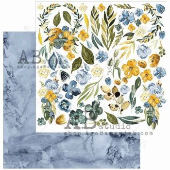 """Elements - Scrapbooking Paper 12 x 12"""" - Something Blue"""