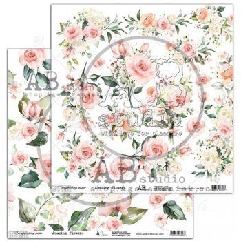 "Elements - Scrapbooking Paper 12 x 12"" - Amazing flower"