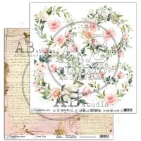 "Elements - Scrapbooking Paper 12 x 12"" - I love you"