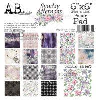"""Sunday afternoon"" Scrapbooking Paper 6x6"" Pad, 25 Sheets + 1 Bonus Sheet Set"