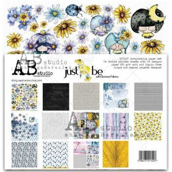 """Just be"" Scrapbooking Paper 12 x12"" 7 Sheet Set"