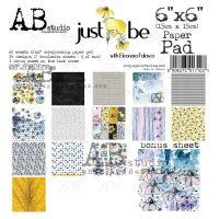 """Just Bee"" Scrapbooking Paper 6x6"" Pad, 22 Sheets + 1 Bonus Sheet Set"