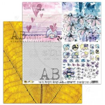 """""""Just Be"""" Scrapbooking Paper 12 x12""""- sheet 7-Favorite moments"""