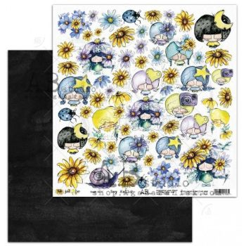 """""""Just Be"""" Scrapbooking Paper 12 x12""""- sheet 1-Say Hello"""