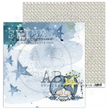 """Just Be"" Scrapbooking Paper 12 x12""- sheet 2-Shining little star"