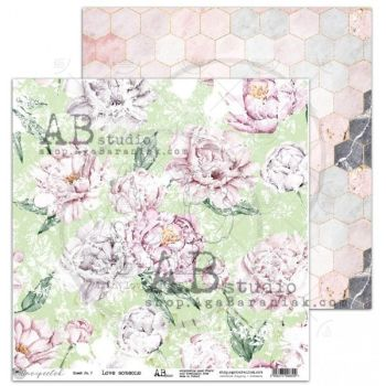 """""""Unexpected"""" Scrapbooking Paper 12 x12""""- sheet 7-Love someone"""
