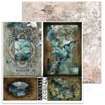 """""""Carry me slowly"""" Scrapbooking Paper 12 x12""""- sheet 7-Do you know me now"""