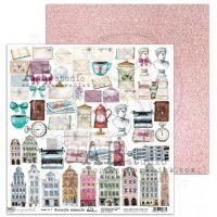 """Unexpected"" Scrapbooking Paper 12 x12""- sheet 5-Favourite elements"