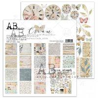 """Cream"" Scrapbooking Paper 12 x12"" + 1 Bonus Sheet Set"