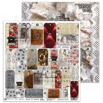 """""""Never too late"""" Scrapbooking Paper 12 x12""""- sheet 6-Diary Of Dreams"""
