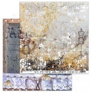 """Never too late"" Scrapbooking Paper 12 x12""- sheet 8-Art's memories"