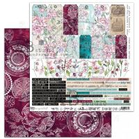 """""""Unexpected"""" Scrapbooking Paper 12 x12""""- sheet 8-Take it"""