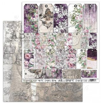 """ A Beautiful Noise"" Scrapbooking Paper 12 x12""- sheet 5-Lovely noise"