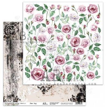""" A Beautiful Noise"" Scrapbooking Paper 12 x12""- sheet 3-New Day"