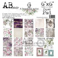 """A beautiful noise"" Scrapbooking Paper 6x6"" Pad, 25 Sheets + 1 Bonus Sheet Set"