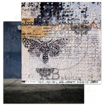 """""""Old dreams"""" Scrapbooking Paper 12 x12""""- sheet 8-Knoc knoc"""