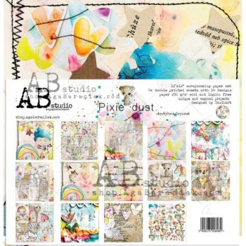 "By Tandiart ""Pixie Dust"" Scrapbooking Paper 12 x12"" 7 Sheet Set"