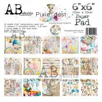 """By TandiArt """"Pixie dust"""" Scrapbooking Paper 6x6"""" Pad, 22 Sheets"""