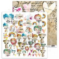 """By Tandiart """"Pixie dust"""" Scrapbooking Paper 12 x12 Sheet 7-Fairy love"""