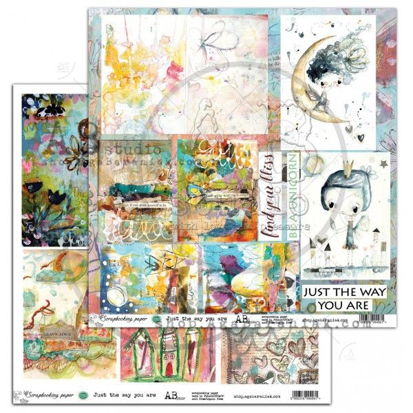 By Tandiart, Elements Scrapbooking Paper 12 x12 - Just the way you are