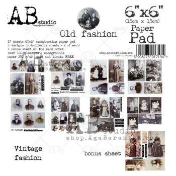 """""""Old fashion"""" Scrapbooking Paper 6x6"""" Pad, 17 Sheets + 1 Bonus Sheet Set"""