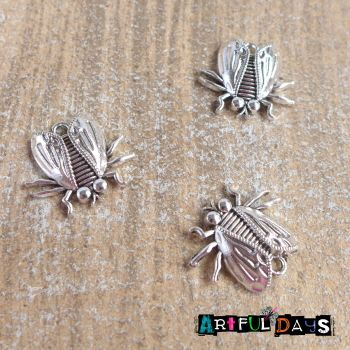 Silver Bugs, Insects Charms (C098)