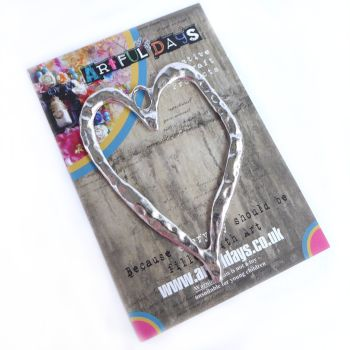 Treasured Artefacts - Large Silver Distressed Heart  (TA232)