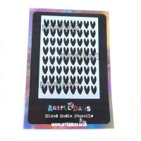 Artful Days A6 Stencil - Small Hearts (ADS011)