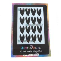 Artful Days A6 Stencil - Large Hearts (ADS012)
