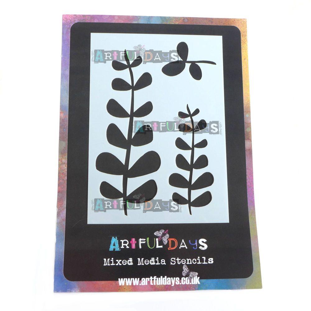 Artful Days A6 Stencil - Leaves (ADS014)