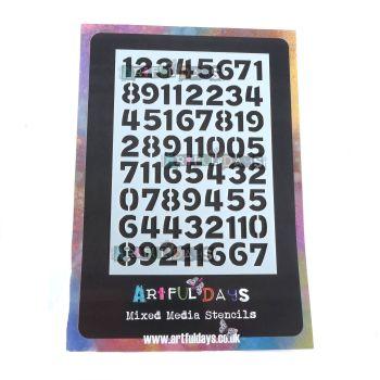 Artful Days A6 Stencil - Numbers (ADS015)