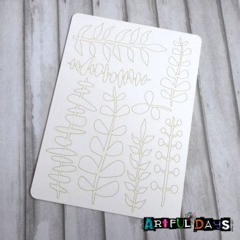Artful Days Chipboard - A5 set of Leaves (ADC001)