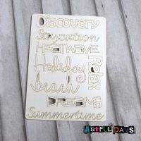 Artful Days Chipboard - A6 Set of Summer Words (ADC002)