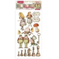 Stamperia Alice Through the Looking Glass Chipboards 15x30cm (DFLCB38)